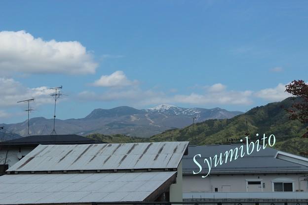 写真: 春雨庵からの蔵王山