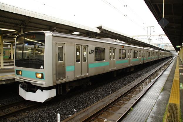 我孫子駅で発車を待つ209系1000番代マト81編成