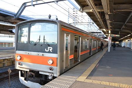 205系[M2編成]@東松戸駅[12/28]