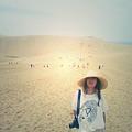 鳥取砂丘にて。