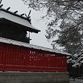 神社は黒白赤