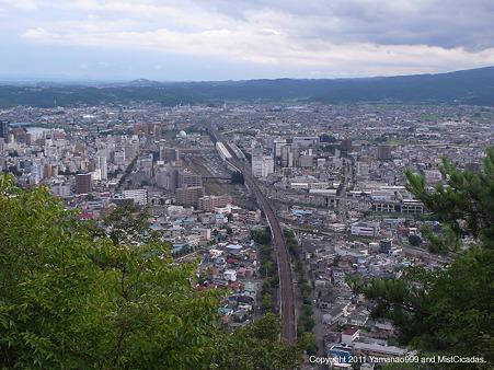 福島市一望