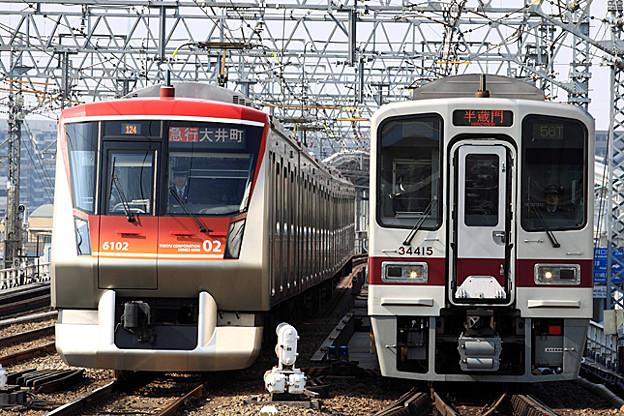 東急6000系 と 30000型 【半蔵門】