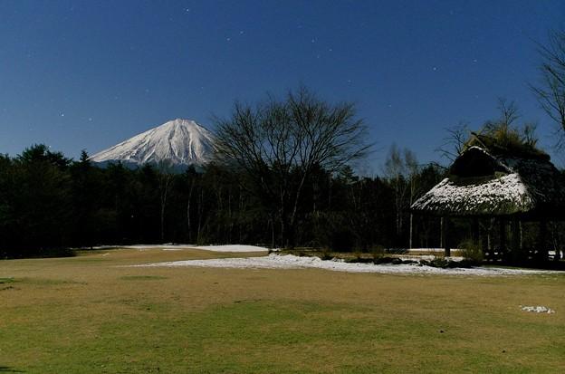 月光富士 西湖野鳥の森公園01