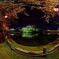 2012年4月8日 船越堤公園 夜桜 360度パノラマ写真
