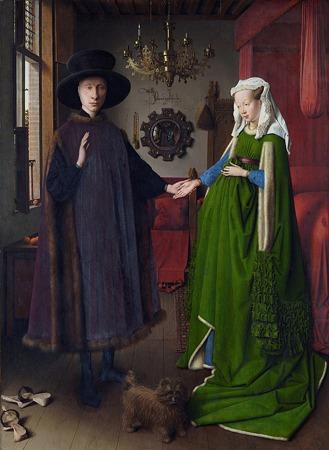 ヤン・ヴァン・アイク「アルノルフィーニ夫妻の肖像画」1434