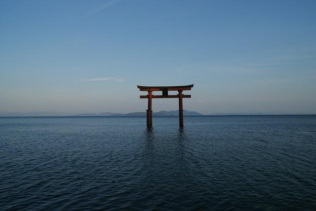 Photos: 白髭神社 湖に浮かぶ鳥居_01