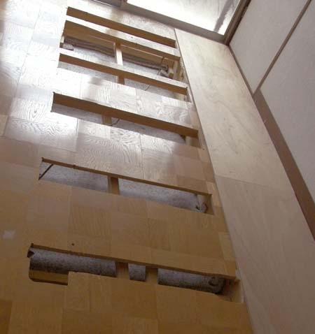 2階床下 防音 補強2