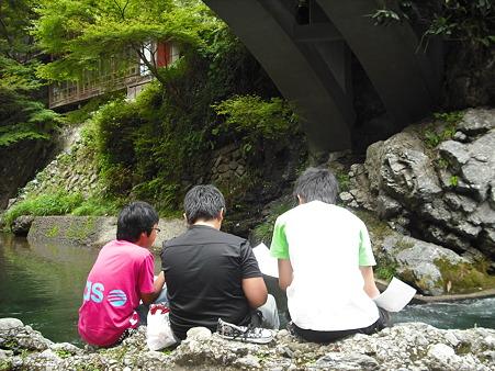 京都 清滝にて