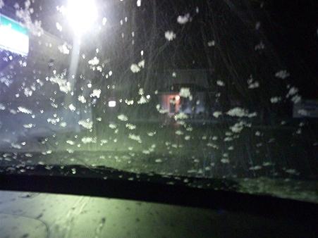 2012.02.17 帰宅途中に雪