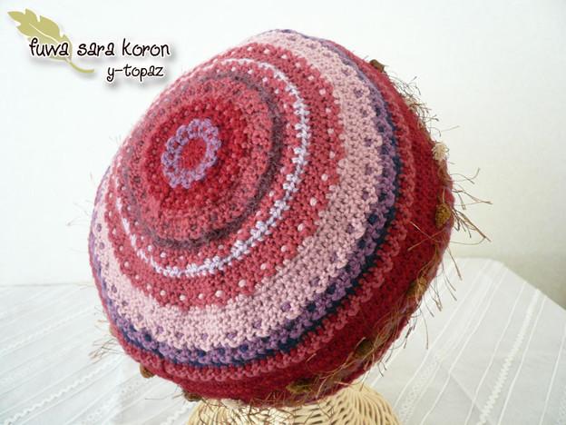 アメリのニット・ベレー帽 2