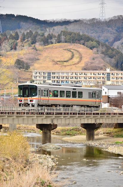 三日月山と姫新線