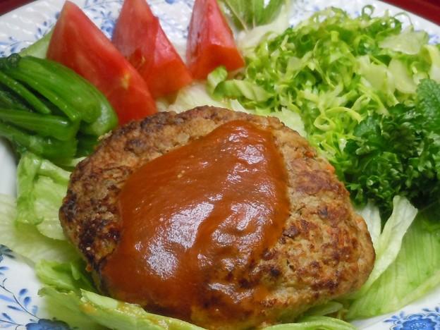 ☆免疫力をアップする 塩麹を使った ヘルシーでおいしい豆腐とエノキのハンバーグ♪