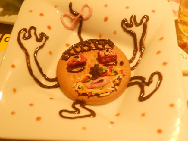 笑笑女子会にてお菓子で描かれた変人