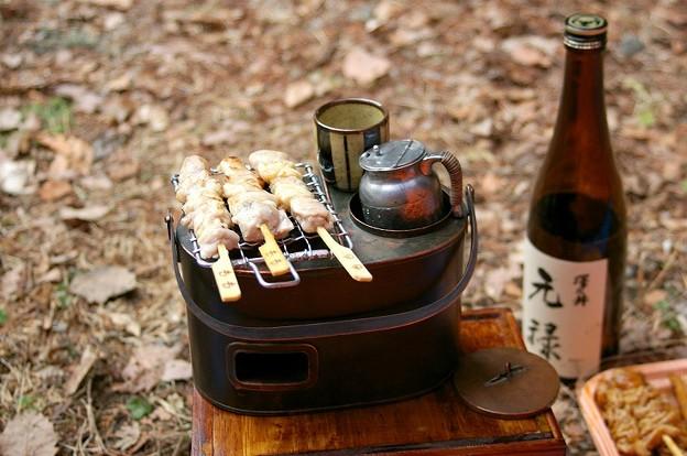 燗銅壺 瑞鶴(zuikaku) キャンプにて