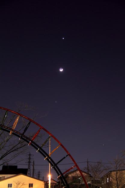 Photos: 3月26日 金星・月・木星