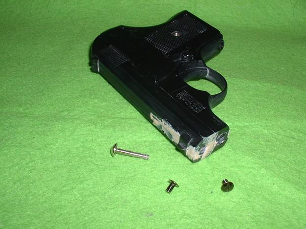 虎ビス屋 実銃型取り「S&W M61 エスコート」 とりあえず別パーツを外してパテを盛った  Doburoku-TAO