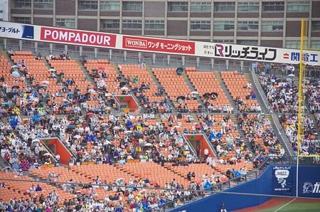 三塁側内野席に設置されていたスクリーンが無い、なぜ?