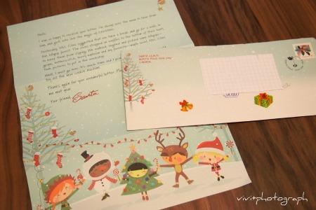 カナダのサンタさんからの手紙が来ました。
