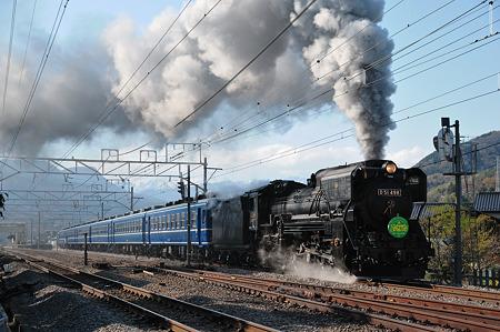 後閑駅を発車するD51498